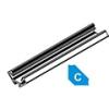 Lumines Alu profil eloxált (Type-C) LED szalaghoz, átlátszó