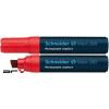 """SCHNEIDER Alkoholos marker, 4-12 mm, vágott, SCHNEIDER """"Maxx 280"""", piros"""