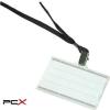 DONAU Azonosítókártya tartó, fekete nyakba akasztóval, 85x50 mm, mûanyag, DONAU