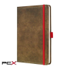 "SIGEL Jegyzetfüzet, exkluzív, A5, vonalas, 194 oldal, SIGEL ""Conceptum Vintage"", barna"