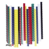 FELLOWES Spirál, mûanyag, 12 mm, 56-80 lap, FELLOWES, 100 db, piros