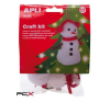 APLI Kézmûves készlet, APLI, hóember kreatív és készségfejlesztő