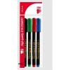 ICO Alkoholos marker készlet, CD/DVD, 0,5 mm, ICO, 4 különbözõ szín