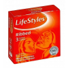 LifeStyles Ribbed redős felületű óvszer 3db