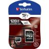 Verbatim Memóriakártya, Micro SDXC, 128GB, Class 10, adapterrel VERBATIM