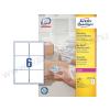 99,1 x 93,1 mm fehér nagy fedőképességű csomag címke / Avery L7166-100