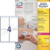 Avery 99,1 x 139mm fehér nagy fedőképességű csomag címke / Avery L7169-100