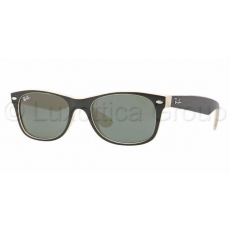 Ray-Ban RB2132 875 NEW WAYFARER TOP BLACK ON BEIGE CRYSTAL GREEN napszemüveg (RB2132__875)