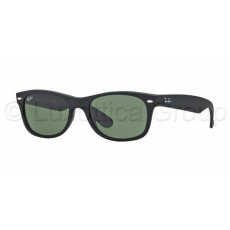 Ray-Ban RB2132 622 NEW WAYFARER BLACK RUBBER CRYSTAL GREEN napszemüveg (RB2132__622)