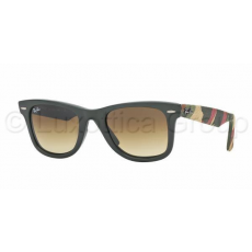 Ray-Ban RB2140 606285 WAYFARER MATTE MILITARY GREEN BROWN GRADIENT DARK BROWN napszemüveg (RB2140__606285)