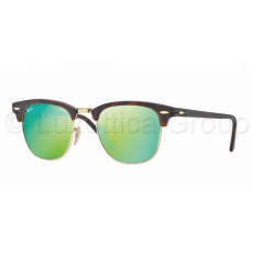 Ray-Ban RB3016 114519 CLUBMASTER SAND HAVANA/GOLD GREY MIRROR GREEN napszemüveg (RB3016__114519)