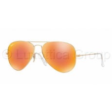 Ray-Ban RB3025 112/69 AVIATOR MATTE GOLD CRYSTAL BROWN MIRROR ORANGE napszemüveg (RB3025__112_69)