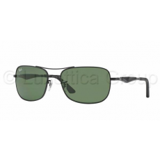 Ray-Ban RB3515 006/71 MATTE BLACK GREEN napszemüveg (RB3515__006_71)