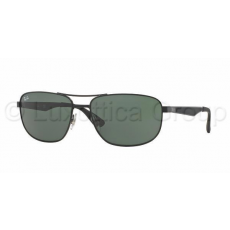 Ray-Ban RB3528 006/71 MATTE BLACK GREEN napszemüveg (RB3528__006_71)