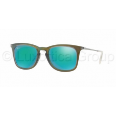 Ray-Ban RB4221 61693R SHOT GREEN RUBBER LIGHT GREEN MIRROR GREEN napszemüveg (RB4221__61693R)