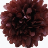 Papír gömb / pom-pom (37 cm átmérő )barna