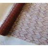 Metál csipke barna (48 cm x 5 yard) levélke mintás