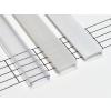Átlátszó takaróprofilok, beépíthető, 2 méteres profilokhoz