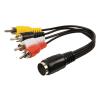 Valueline DIN aljzat - 4x RCA átalakító kábel 20cm