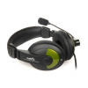 Natec Grizzly fekete - zöld headset (NSL-0304)