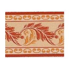 Puder-narancs levél mintás bordűr tapéta, díszléc és más dekoráció