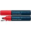 """SCHNEIDER Alkoholos marker, 2-7 mm, vágott, SCHNEIDER """"Maxx 250"""", piros"""