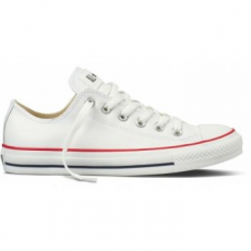 Converse Chuck Taylor All Star Leather Unisex Tornacipő, Fehér, 42 (132173C 8.5)