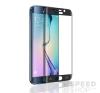 utángyártott Samsung G925 Galaxy S6 Edge tempered glass üvegfólia (teljes kijelzős-hajlított), fekete mobiltelefon kellék