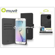 Samsung Samsung SM-G928 Galaxy S6 Edge Plus flipes tok kártyatartóval - Muvit Wallet Folio - black tok és táska