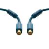 Antenna csatlakozókábel [1x Antennadugó, 75 Ω - 1x Antennacsatlakozó alj, 75 Ω] 2 m 95 dB aranyozott érintkező/Ferritmaggal Kék clicktronic
