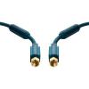SAT Csatlakozókábel [1x F dugó - 1x F dugó] 2 m 95 dB aranyozott érintkező/Ferritmaggal Kék clicktronic