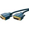 DVI Csatlakozókábel [1x DVI dugó, 24+1 pólusú - 1x DVI dugó, 24+1 pólusú] 3 m Kék 2560 x 1600 pixel clicktronic
