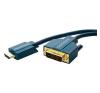 DVI / HDMI Csatlakozókábel [1x DVI dugó, 24+1 pólusú - 1x HDMI dugó] 15 m Kék 1920 x 1080 pixel clicktronic audió/videó kellék, kábel és adapter