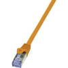 RJ45-ös patch kábel, hálózati LAN kábel CAT 7 S/FTP [1x RJ45 dugó - 1x RJ45 dugó] narancs 1m LogiLink CQ4038S