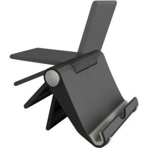 Universal tablet-/ iPad- és okos telefon tartó, fekete, Renkforce