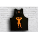 Universal Nutrition Universal Classic Tank Top Black - Orange