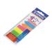 Jelölőcímke, műanyag, címke és nyíl forma, 8x25 lap, 12x45/42 mm, DONAU, neon szín 200 lapos