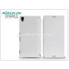 Nillkin Sony Xperia Z3 (D6603) oldalra nyíló flipes tok - Nillkin Sparkle - fehér