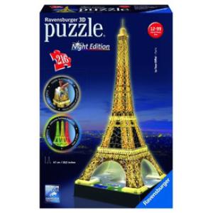 Ravensburger RAVENSBURGER - Eiffel torony világító 3D PUZZLE, 216 DARABOS