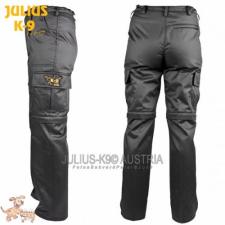 Julius-K9 K9 pamut nadrág, cipzározható szárral - impregnált, fekete / méret 42 férfi nadrág