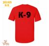 Julius-K9 K9 póló, piros - méret: XXL férfi póló