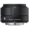 Sigma 30mm f/2.8 (A) EX DN fekete objektív, Sony MILC- hez