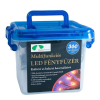 DT Kültéri LED fényfüzér, 8 funkciós vezérlővel, 17,95 m, kék KTC 080