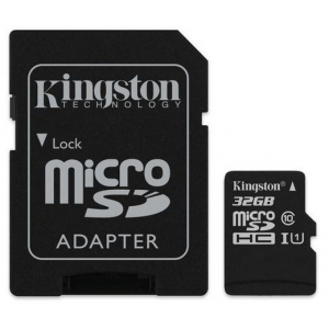 Kingston Card MICRO SD Kingston 32GB 1 Adapter UHS-I CL10 G2