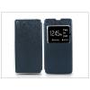 Sony Xperia M5 (E5603/E5606/E5653) S-View Flexi oldalra nyíló flipes tok - kék