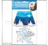 Fali dekor led égővel 27 cm Angyal barkácsolás, csiszolás, rögzítés
