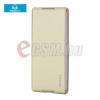 Rockphone ROCK DELIGHT műanyag telefonvédő (bőr flip, oldalra nyíló) ARANY [Sony Xperia Z4]