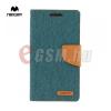 Mercurycase MERCURY Canvas Diary Tok álló (FLIP, mágneses, oldalra nyíló, asztali tartó funkció, textil hatás) ZÖLD [Samsung Galaxy A5 (SM-A500F)]