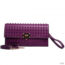 L1510 - Miss Lulu London pöttyded Envelope Táska Clutch táska lila