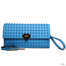 L1510 - Miss Lulu London pöttyded Envelope Táska Clutch táska kék